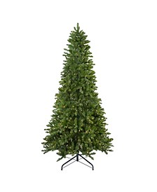Pre-Lit Slim Eastern Pine Artificial Christmas Tree-Clear Lights