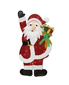 Lighted Waving Santa with Gis Outdoor Christmas Yard Decor