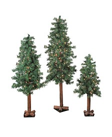 Pre-Lit Woodland Alpine Artificial Christmas Trees