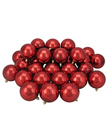 32 Count Hot Shatterproof Shiny Christmas Ball Ornaments