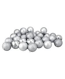 32 Count Splendour Shatterproof 4-Finish Christmas Ball Ornaments