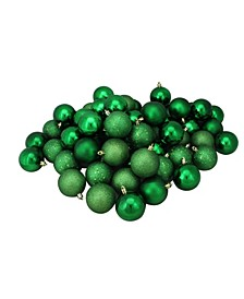 60 Count Shatterproof 4-Finish Christmas Hanging Ball Ornaments