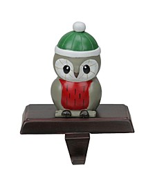 Perched Owl Christmas Stocking Holder
