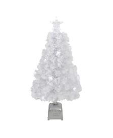 Pre-Lit LED Colour Changing Fibre Optic Artificial Christmas Tree