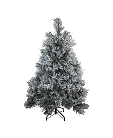 Flocked Spruce Artificial Christmas Tree-Unlit