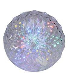 LED Lighted Multi-Color Hanging Crystal Sphere Outdoor Christmas Decoration