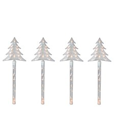 Lighted Christmas Tree Pathway Marker with Lawn Stakes