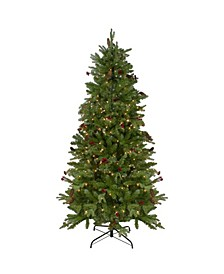 Pre-Lit Mixed Winter Berry Pine Artificial Christmas Tree