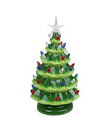 Lighted Retro Table Top Christmas Tree with Star Topper