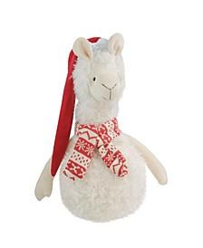 Llama with Santa Hat Christmas Table Top Decoration