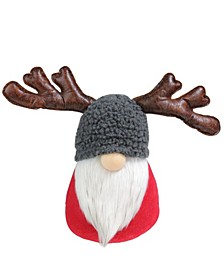 Santa Gnome with Moose Antlers Christmas Table Top Decoration