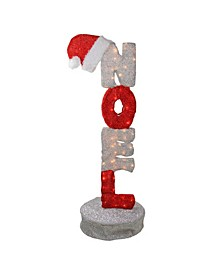 Lighted Noel Sign Animated Christmas Outdoor Decor