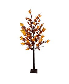 Pre-Lit LED Maple Artificial Christmas Tree