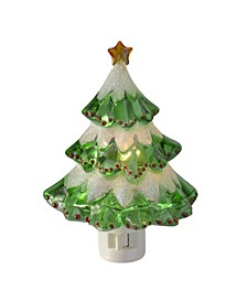 Beaded Frosted Christmas Tree Night Light