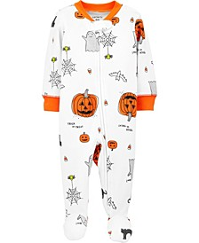 Baby Boy or Girl Halloween 2-Way Zip Cotton Sleep & Play