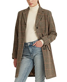Houndstooth Single-Breasted Walker Coat, Created for Macy's