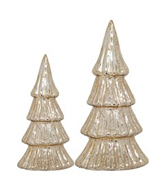 Holiday Gold Trees, Set of 2