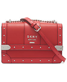 DKNY Leather Louise Small Shoulder Flap