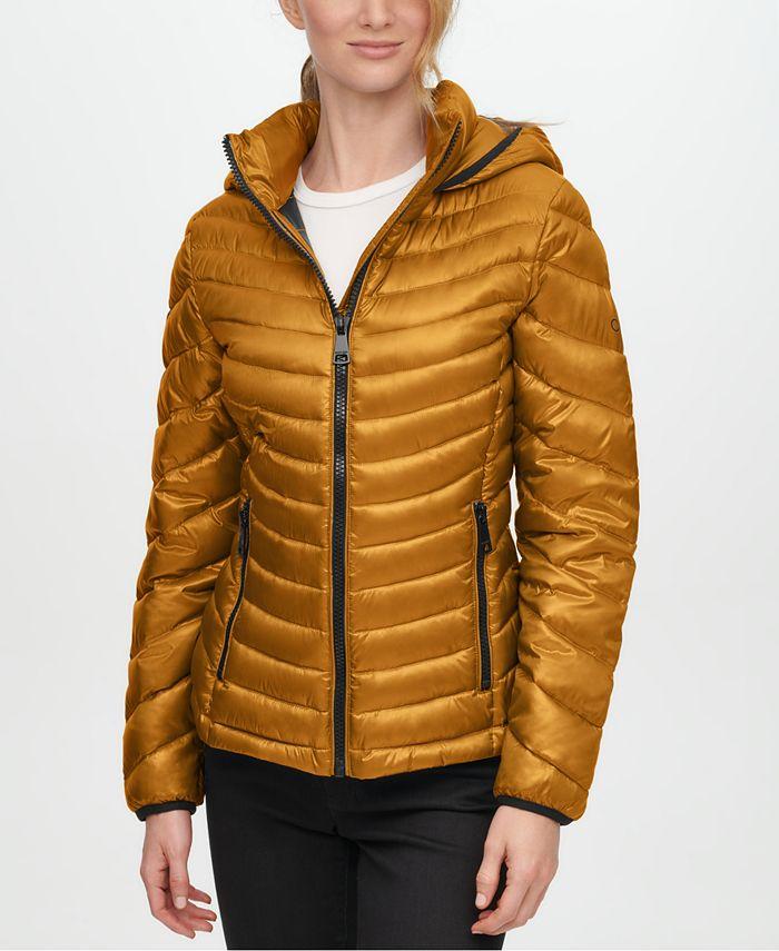 Calvin Klein - Hooded Packable Puffer Coat