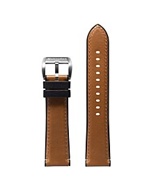 Men's Durevole Brown Leather Hybrid Strap 22mm