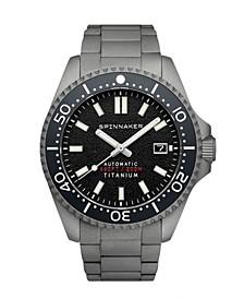 Men's Tesei Automatic Gray-Tone Titanium Bracelet Watch 43mm
