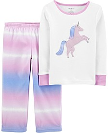 Toddler Girl 2-Piece Fleece & 100% Snug Fit Cotton PJs