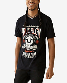True Religion Men's Fine Denim Short Sleeve Crewneck Tee