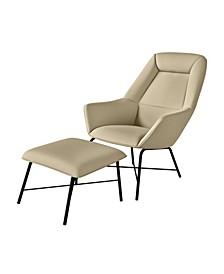 Jodi Chair and Ottoman Set