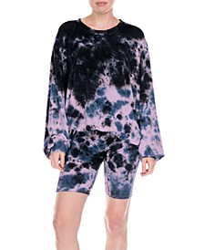 Daze Off Tie Dye Printed Loungewear Sweatshirt