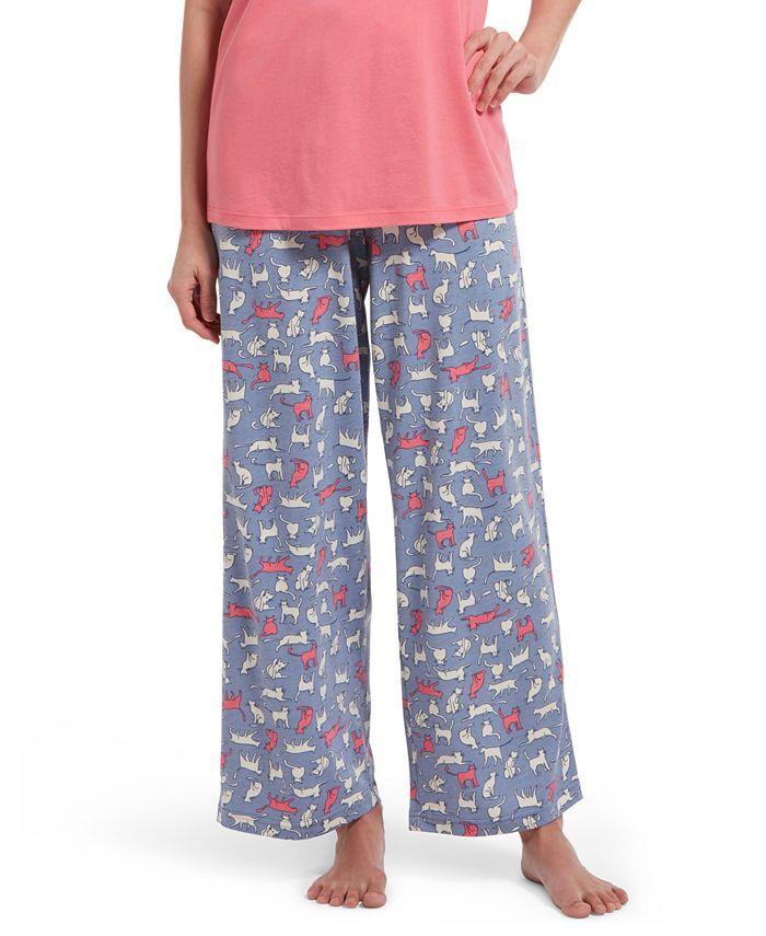 Hue - Cat-Print Classic Pajama Pants