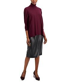 Drop-Shoulder Turtleneck Sweater, Created for Macy's