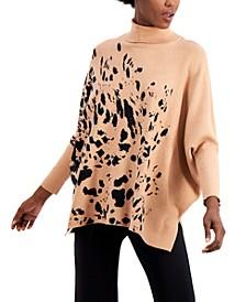 Printed Drop-Shoulder Turtleneck Sweater, Regular & Petite Sizes, Created for Macy's