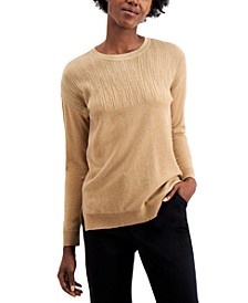 Metallic-Detail Vented-Hem Sweater, in Regular & Petite, Created for Macy's