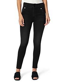 The Georgia Button-Trim Jeans