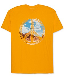 Trendy Plus Size Peace Sign T-Shirt