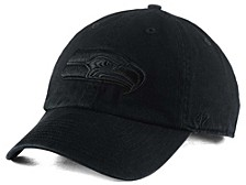 Seattle Seahawks Black CLEAN UP Cap