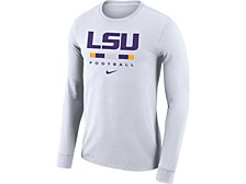 LSU Tigers Men's Dri-Fit Cotton Icon Wordmark Long Sleeve T-Shirt