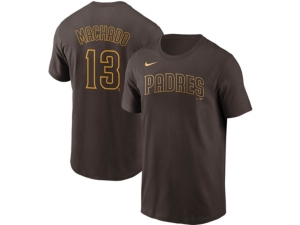 Nike San Diego Padres Men's Name and Number Player T-Shirt Manny Machado