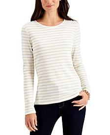Metallic-Stripe Top, Created for Macy's