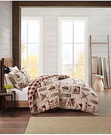 Flannel Full/Queen Comforter Cabin Mini Set