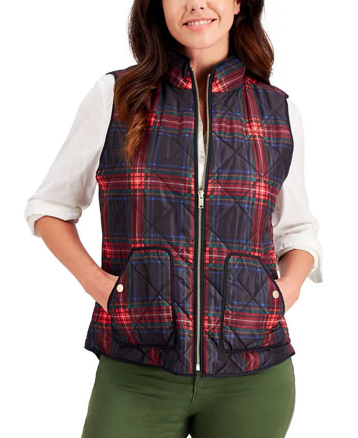 Charter Club - Quilted Plaid Vest