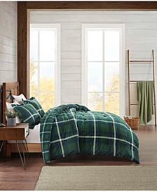 Flannel Plaid Full/Queen Comforter Set