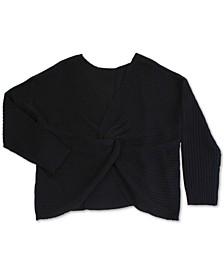 Trendy Plus Size Twist-Front Sweater