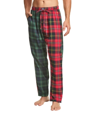 Polo Ralph Lauren Men's Printed Cotton Flannel Pajama Pants In Green Red