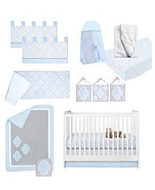 Medallion 13 Piece Crib Bedding Set