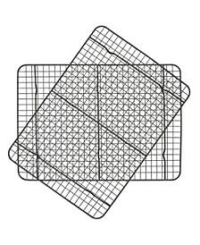 Set of 2 Non-Stick Metal Cooling Rack