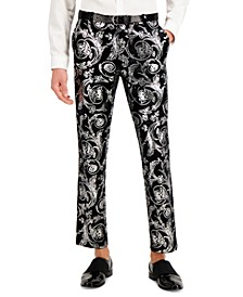INC Men's Slim-Fit Jacquard Drew Pants, Created for Macy's