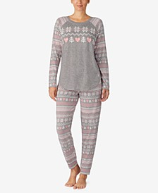 Printed Knit Pajamas Set