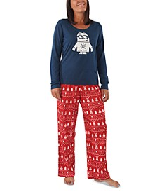 Matching Women's Holiday Minions Family Pajama Set