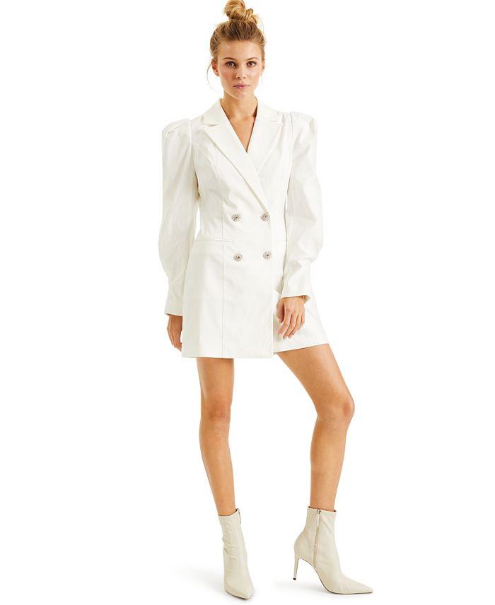 INC International Concepts - Crystal-Button Blazer Dress
